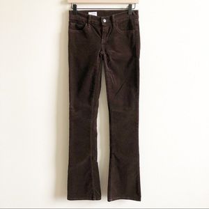 Gap 1969 Skinny Boot Brown Corduroy Pants